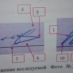 определение совпадающих и различающихся признаков в подписи